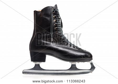 Old Black Figure Ice Skate