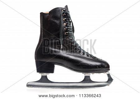 Old Black Figure Ice Skate