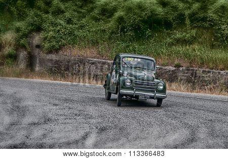 car FIAT 500 C Topolino 1951 mille miglia 2015