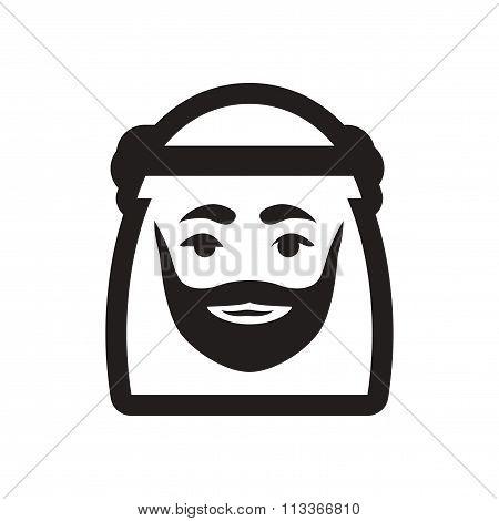 style black and white icon Arab Emirates