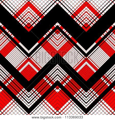 Seamless Tartan Pattern. Vector Plaid Background