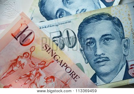 Detail Of Singapore Banknotes