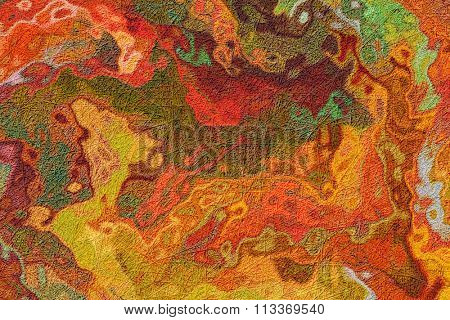 A Colorful Grunge Fiber Textured Background