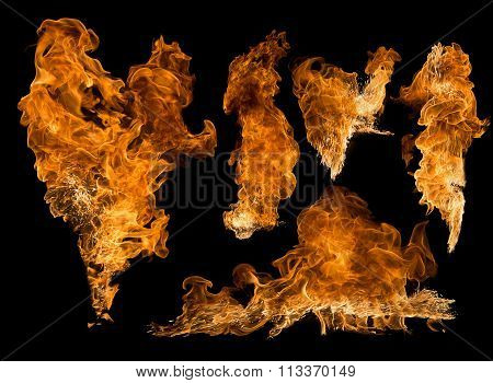 Set Of Textures Flame