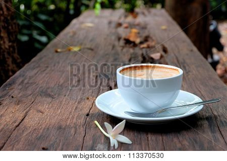 Coffee Cup on wooden