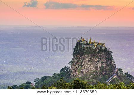 Mt. Popa, Mandalay Division Myanmar.