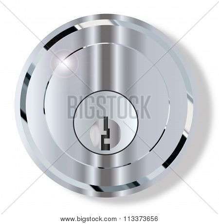 Chrome Front Door Lock