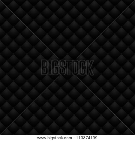 Black Leather Upholstery Raster Seamless Pattern, Render