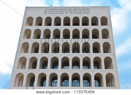 Palace of italian civilization in Rome