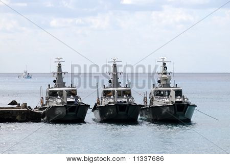 Three Border Patrol Boats