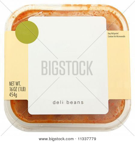 Blank Label Container Of Baked Beans