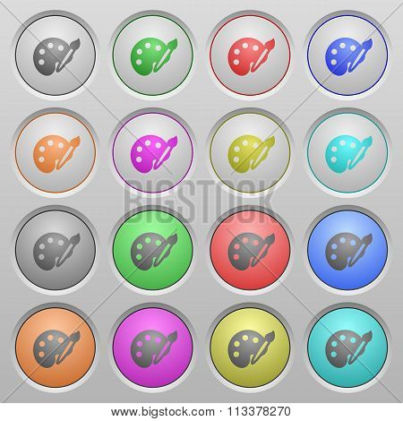 Palette Plastic Sunk Buttons
