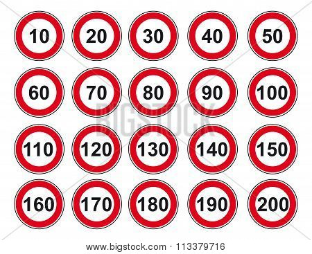 Vector Set Sign Speed Limit