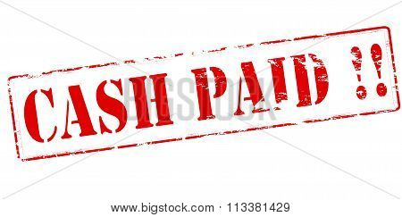 Rubber stamp with text cash paid inside vector illustration