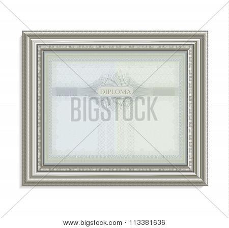 Diploma Certificate Frame Image Card Paper 3D Natural Horizontal Raster