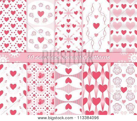 10 Seamless Romantic Patterns
