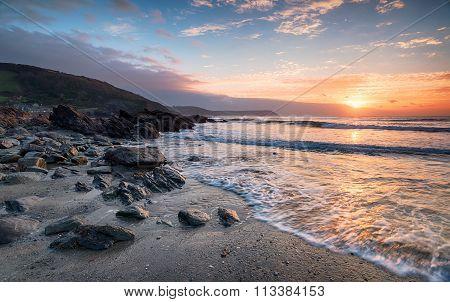 Sunrise On The Cornish Coastline