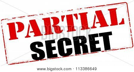 Rubber stamp with text partial secret inside vector illustration