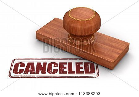 Stamp Cancelled.  Image with clipping path