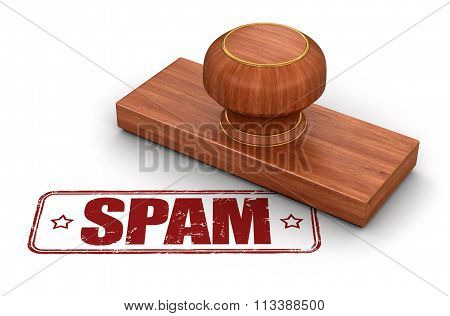 Stamp Spam.  Image with clipping path