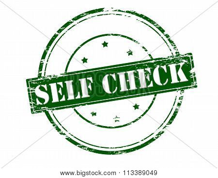 Rubber stamp with text self check inside vector illustration