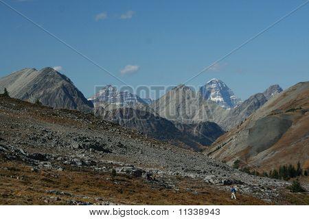 Burstall Pass,hikers