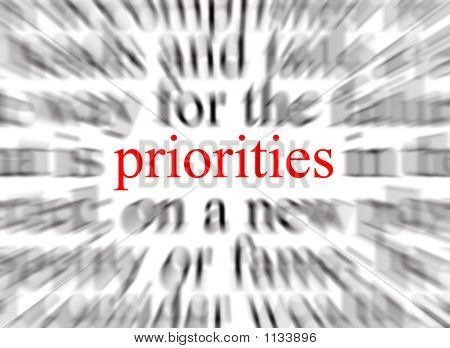 Focus On The Priorities