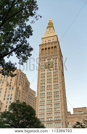 Metropolitan Life Clock Tower in New York City, USA.
