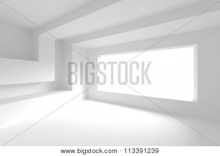 White Empty Room/ 3d Abstract Background