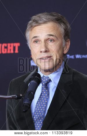 LOS ANGELES - JAN 5:  Christoph Waltz at the Quentin Tarantino Hand & Footprints Ceremony at the TCL Chinese Theater IMAX on January 5, 2016 in Los Angeles, CA