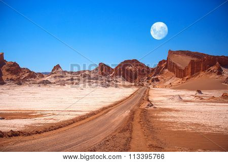 Amphitheatre Is Beautiful Geological Formation Of Moon Valley