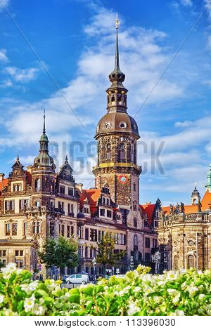 Dresden, Germany-september 08, 2015 :dresden Castle Or Royal Palace (german: Dresdner Residenzschlos