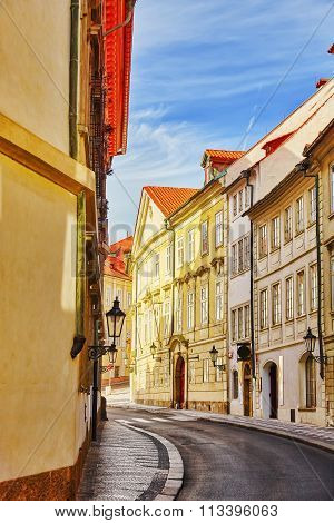 Quarters And Streets On  Prague's Mala Strana(lesser Town Of Prague). District Of The City Of Prague