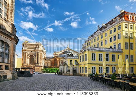 Dresden, Germany-september 08, 2015 :art Academy. Center Of The Dresden Old Town. Dresden Has A Long