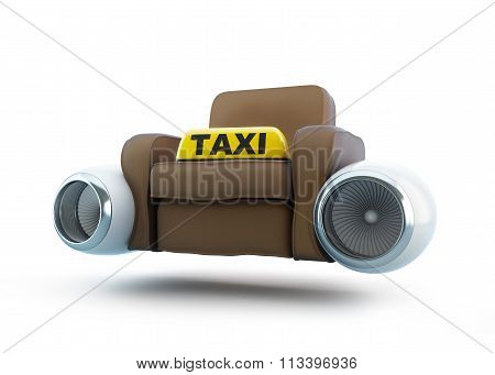 Air Taxi, Seat Taxi With An Engine From The Airplane