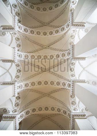 Vilnius, Lithuania  - January 2, 2012: Fragment of Vilnius Cathedral ceiling in Vilnius in Lithuania