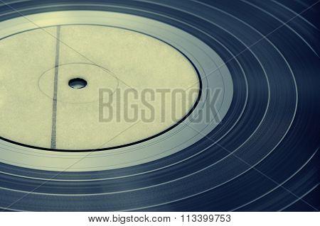 Detail vinyl record vintage toning
