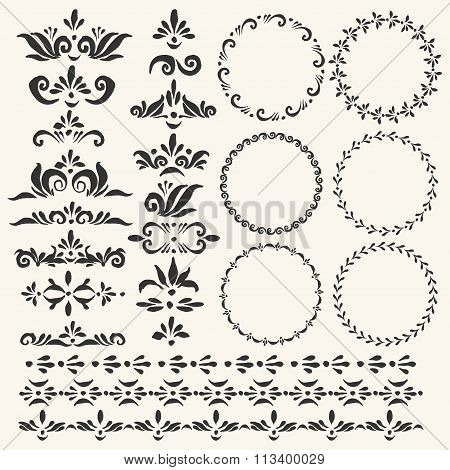 Set Of Vector Decorative Elements