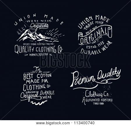 vintage label drawing 2