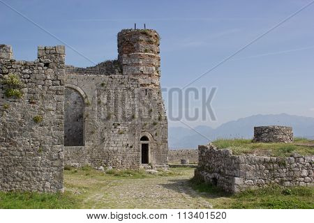 old church and mosque, fortress Rozafa, Shkoder, Albania