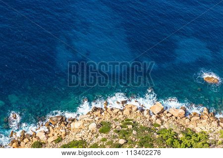Stony Shore Of Cap Canaille Cliff-cassis,france