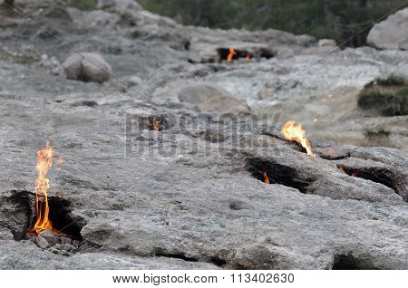 Natural Fire On Mount Chimera