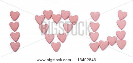 signs on white background - isolated