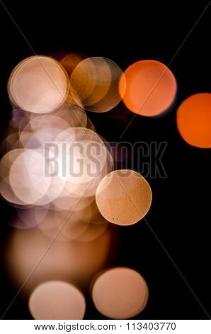 Colorful Defocused Bokeh Lights Background. Festive Background With Natural Bokeh. Abstract Blur Bac