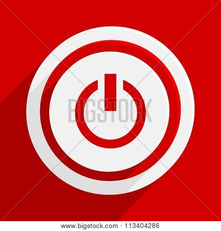 power red flat design modern vector icon for web and mobile app
