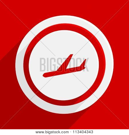 arrivals red flat design modern vector icon for web and mobile app