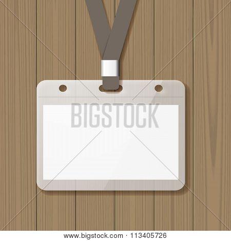 Blank badge mock up