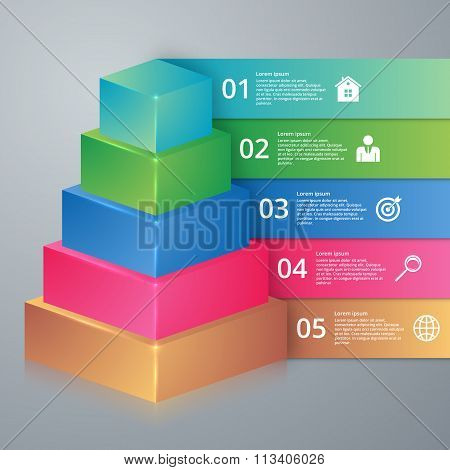 Vector illustration infographics pyramid