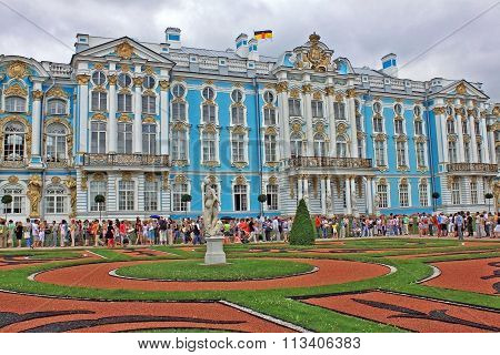 Catherine Palace During The Celebration Of The 300Th Anniversary Of Tsarskoye Selo