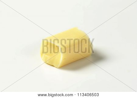 Milk chewy candy on white background